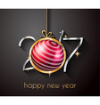 2017 Happy New Year Background for your Flyers vector image vector image