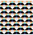 Abstract geometric color blocked pattern vector image vector image