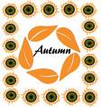 autumn harvest vintage card frame with vector image