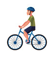 bicycle cycle bike rider cyclist wearing helmet vector image vector image