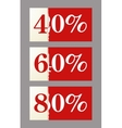 Big discount vector image vector image