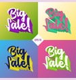 big sale 3d set vector image vector image