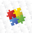 blank puzzle template background vector image vector image