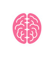 brain pink color top view icon intellect symbol vector image vector image