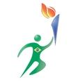 brasilia sport logo vector image vector image