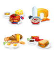 Breakfast Compositions Set vector image vector image