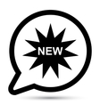 bubble with new icon vector image