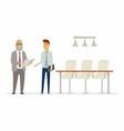 business relationship - modern cartoon people vector image vector image