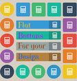Calculator icon sign Set of twenty colored flat vector image
