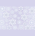 christmas paper cut 3d snowflakes with shadow blue vector image