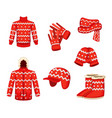 clothes at christmas holiday style vector image