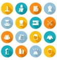 Clothes Designer Icons Flat vector image