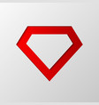 diamond cut from paper vector image vector image