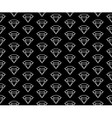 diamonds pattern black and white vector image