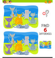 differences task with cartoon cat characters group vector image vector image