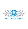 digital world - business logo template vector image vector image