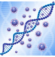 dna blue virus attak vector image
