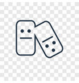 domino concept linear icon isolated on vector image