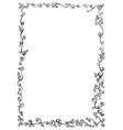 doodle frame with doodles decorative line ornamen vector image