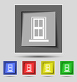 Door icon sign on the original five colored vector image vector image