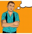 Elegant young man weared in a shirt and a tie vector image vector image