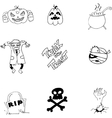 Element and character Halloween in doodle vector image vector image