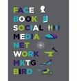 Face book Social Media Marketing vector image