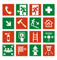 fire safety icon security alarm signs and vector image vector image