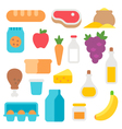 flat design farm products set vector image