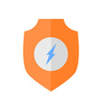Flat design Shield with Lightning Bolt vector image