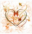 floral heart background vector image