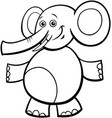 funny elephant cartoon character color book vector image vector image