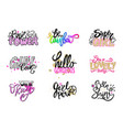 glamorous graffitti with quotes set vector image