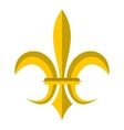 Gold royal lily icon flat style vector image vector image