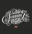 hand drawn lettering - summer decorated vector image