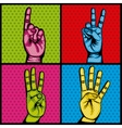 hands human set collection symbol vector image vector image