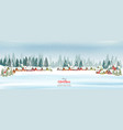 holiday christmas panorama with a winter village vector image vector image