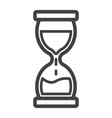 hourglass line icon business and deadline vector image vector image