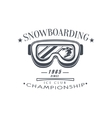 Ice Club Championship Emblem Design vector image vector image