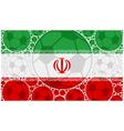 Iran soccer balls vector image vector image