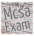 MCSE v s MCSA text background wordcloud concept vector image vector image