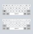 modern keyboard of smartphone alphabet vector image vector image