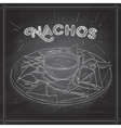 Nachos scetch on a black board vector image vector image