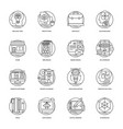pack of design and development glyph icons vector image vector image