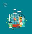 pet shop flat style design vector image vector image
