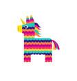 pinata horse cute unicorn viva mexico vector image