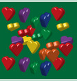 rainbow colors hearts pattern vector image