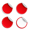 Red Round Stickers vector image vector image