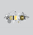 science research creative word over abstract vector image
