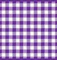 seamless violet white traditional gingham pattern vector image vector image